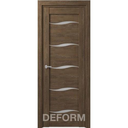 Дверь межкомнатная DEFORM D1 дуб шале корица