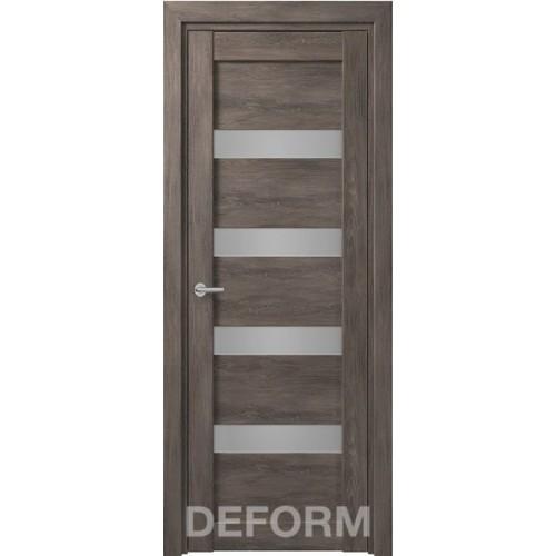 Дверь межкомнатная DEFORM D16 дуб шале графит