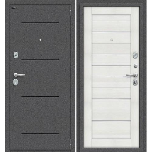 Дверь входная металлическая Эльпорта PORTA S104.П22 (Антик Серебро/ Bianco Veralinga)